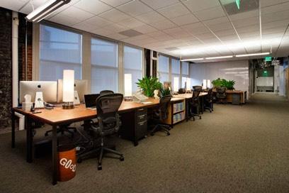 Офис Dropbox без единого кабинета