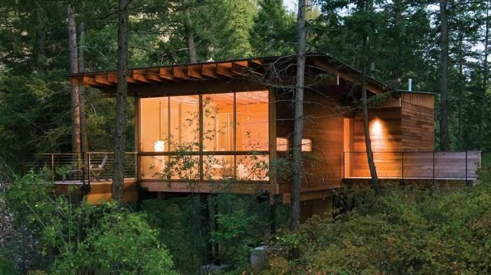 Дачный домик у озера в Монтане